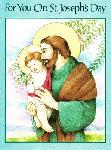 Click here for more information about St. Joseph and Baby Card - Green