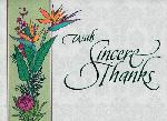 Click here for more information about With Sincere Thanks Thank You Card