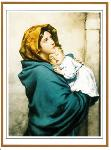 Click here for more information about Madonna and Child Padded Folder - Blue