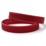 Myeloma Warrior Silicone Wrist Bands, Red