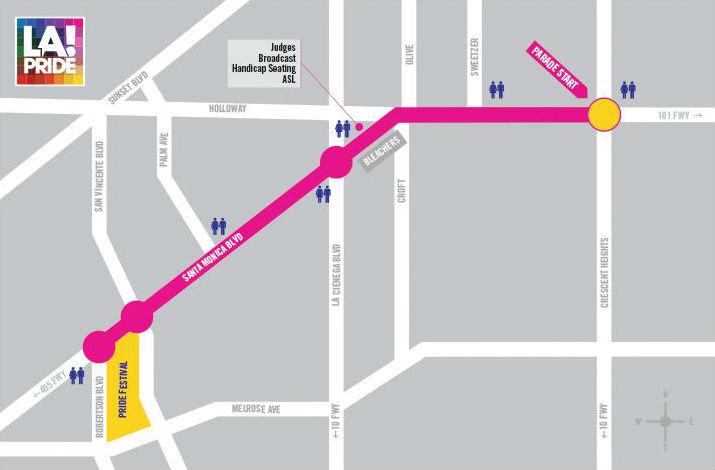 LA Pride Parade Route Map