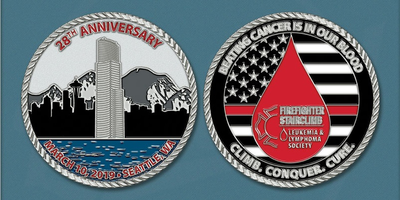 2019 LLS Firefighter Stairclimb Challenge Coin