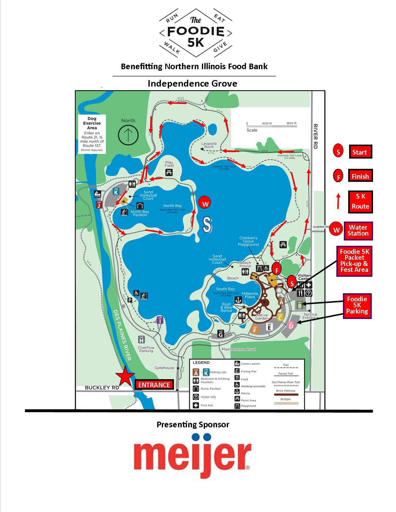 Independence Grove Course Map 2017 No Sponsors