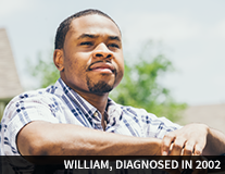 William, diagnosed in 2002