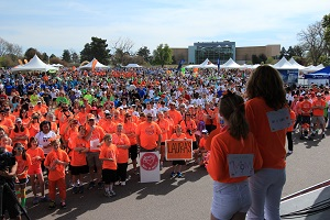 large group of people at Walk MS