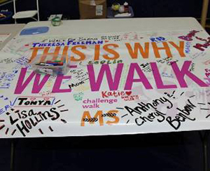 poster saying this is why we walk