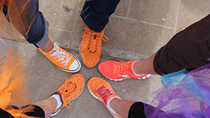 a group of tennis shoes