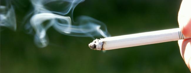 lit cigarette burning