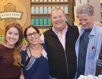 Mario Batali with MS researchers
