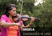 Angela, diagnosed in 1992