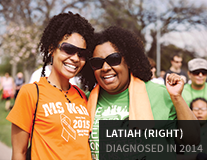 Latiah, diagnosed in 2014