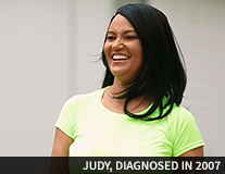 Judy, diagnosed in 2007