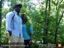 James King Jr and his mom