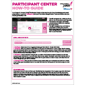 Participant Center How-To