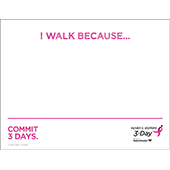 I Walk Because