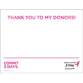 Donor Thank You Sign