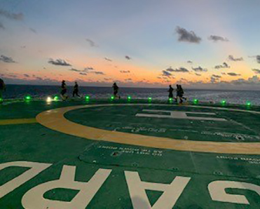 Heli-pad at sunrise