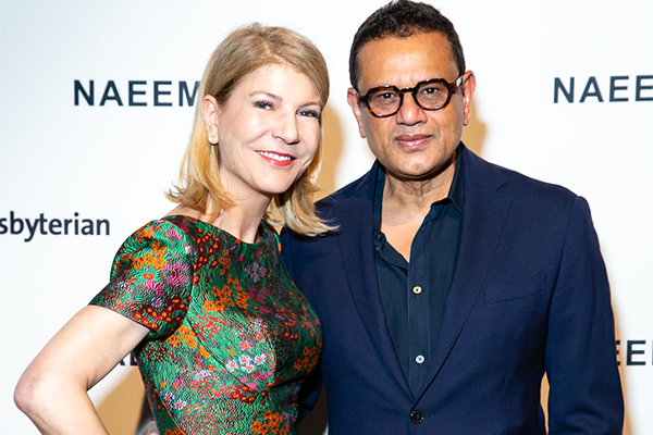 Renowned Designer Naeem Khan and Laura Forese, M.D., M.PH (Senior Vice President and Chief Executive Officer, NewYork-Presbyterian)