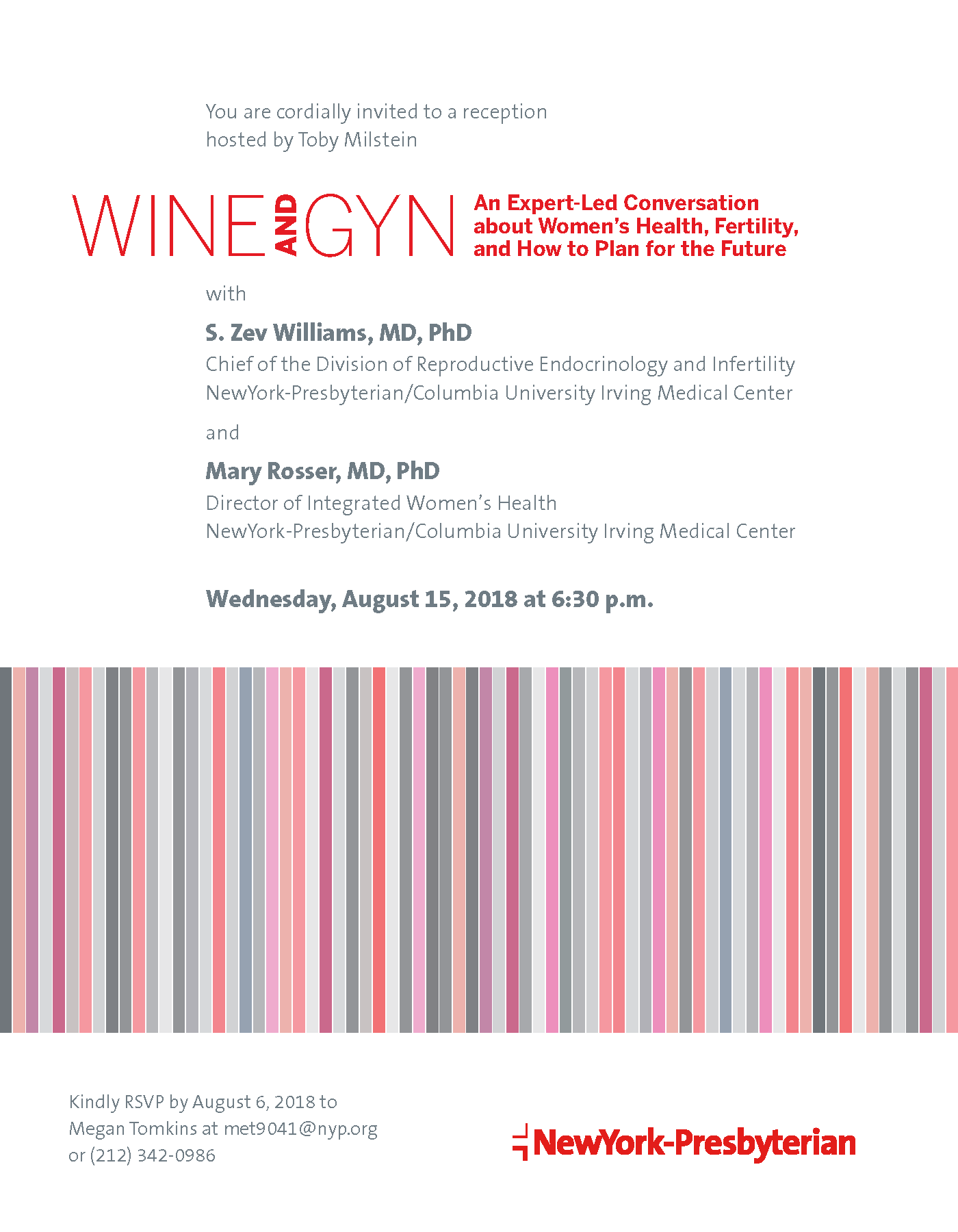 NYP Wine and GYN August 2018 Invitation