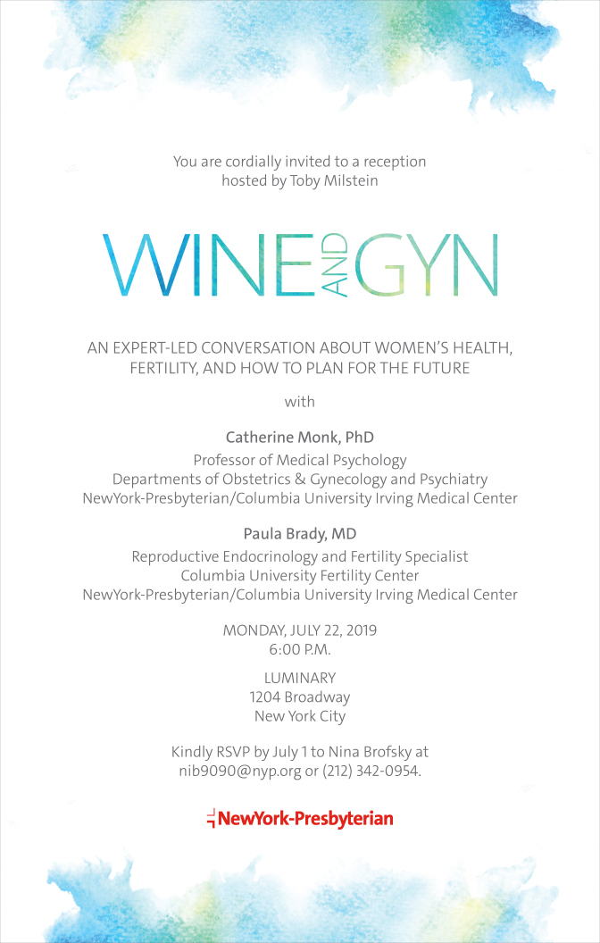 NYP Wine and GYN July 2019 Invitation