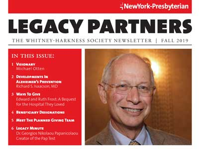 Legacy Partners Newsletter Fall 2019 Issue