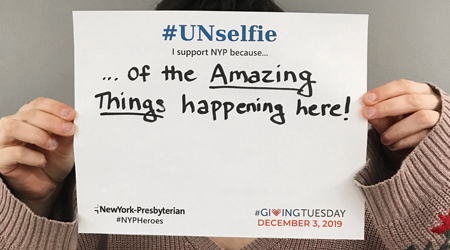 NYP unselfie sign