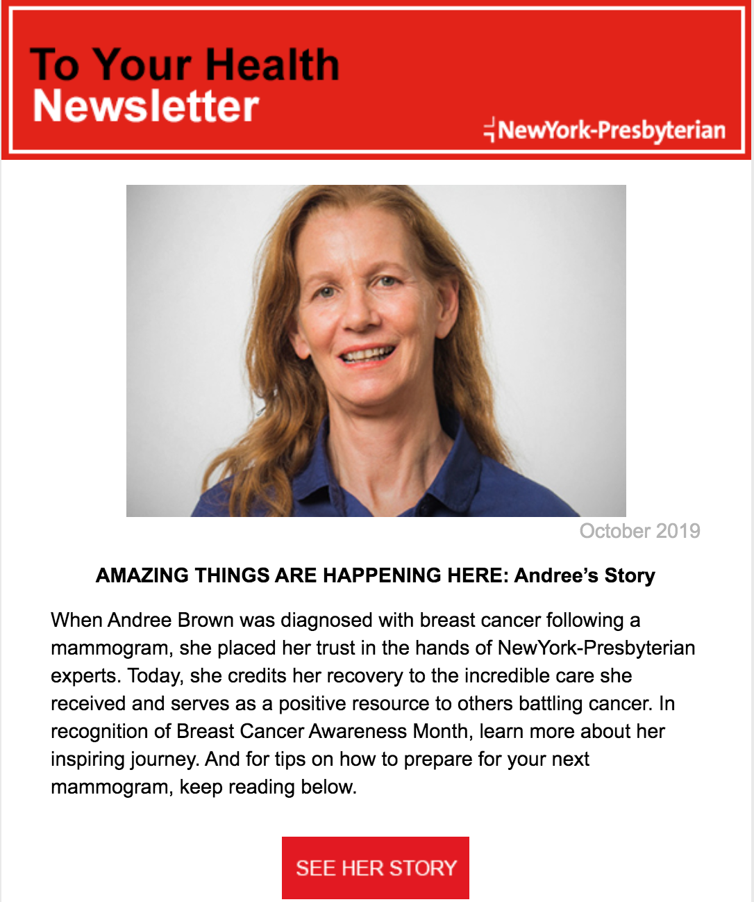 NYP To Your Health Annual Fund Newsletter thumbnail