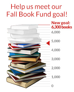 Help us meet our Fall Book Fund goal!