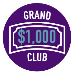 Raised $1,000 Badge