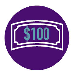 Raised $100 Badge