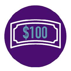 Raised $100 Badge