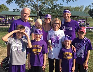Michael Schreurs Family at Purplestride