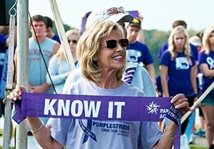 Linda Schreurs at Purplestride