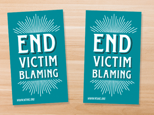 Stephanie King - SP-18-01_End Victim Blaming Sticker_500x375