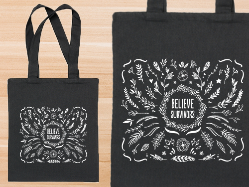 SP-18-02 Believe Survivor Tote Bag