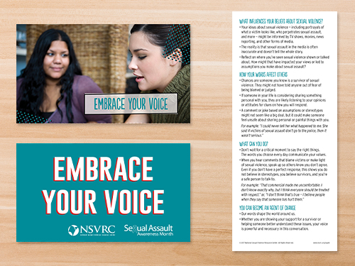 SP-18-03 Embrace Your Voice Palm Card