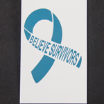 SP-17-01 - Believe Survivors Teal Ribbon Temporary Tattoos (sold in packs of 20)