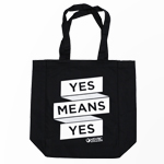 "Click here for more information about SP-20-05 - ""Yes Means Yes"" Tote Bag"