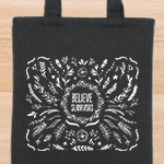 Click here for more information about SP-18-02 - Believe Survivors Tote Bag - While Supplies Last