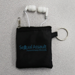 Click here for more information about SP-14-01 - Ear buds with black zipped pouch
