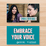 Click here for more information about SP-18-03 - Embrace Your Voice Palm Card (50 pack) - While Supplies Last