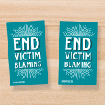 "SP-18-01 - ""End Victim Blaming"" Stickers (20 pack)"