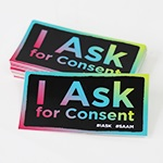 "Click here for more information about SP-19-02 - ""I Ask"" Stickers (20 pack)"
