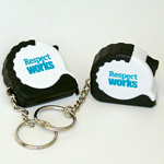 Click here for more information about SP-09-06 - Respect Works Tape Measure Keychain (per pack of 5)