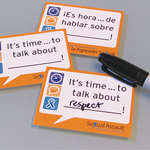 Click here for more information about SP-13-02 - It's Time to Talk Stickers - English