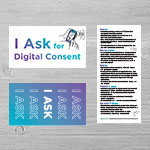 "SP-19-08 - ""I Ask for Digital Consent"" Palm Card (50 pack)"