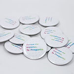 "Click here for more information about SP-19-12 - ""Te Pregunto"" Buttons Spanish (25 pack)"