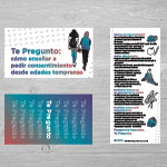 "Click here for more information about SP-19-16 - ""Te Pregunto como ensenar a pedir consentimiento desde edades tempranas"" Palm Card (50 pack)"