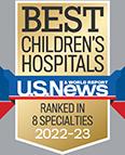 Best Children's Hospital - U.S. News & World Report - Ranked in 10 Specialties 2020-21