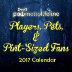 Click here for more information about PRE-ORDER: 2017 Players, Pets, & Pint-Sized Fans Calendar